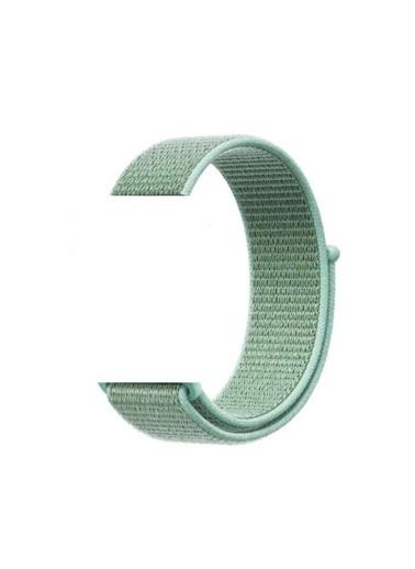 Jacobson Apple Watch 42-44 mm Spor Cırtcırtlı Kumaş Kordon Kayış Yeşil